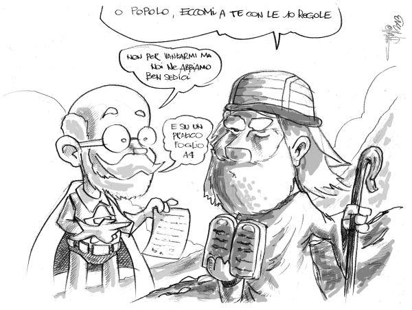 Mosé presenta le sue 10 regole, SuperZam risponde con le 16 dell'esperanto